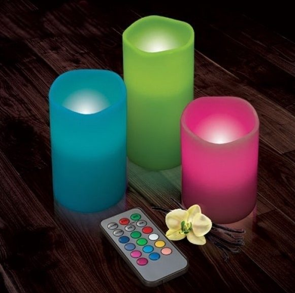 Magiche candele led con telecomando dxa 24 for Candele colorate