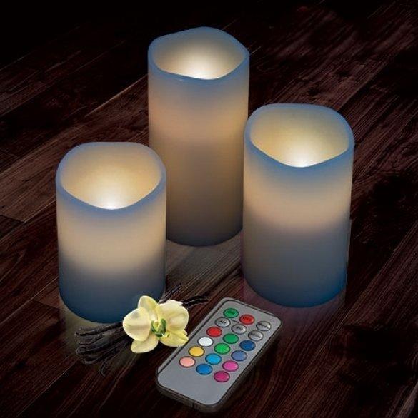 magiche candele led con telecomando dxa 24. Black Bedroom Furniture Sets. Home Design Ideas