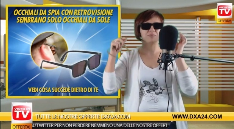 registrazione-televendita-conduttrice-occhiali-spia-dxa24-com-colpo-di-scena
