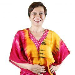 Caftano Donna Fucsia Vitality In Fresco Cotone