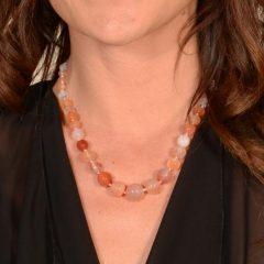 Collana Pietre Arancio Naturali Delicata