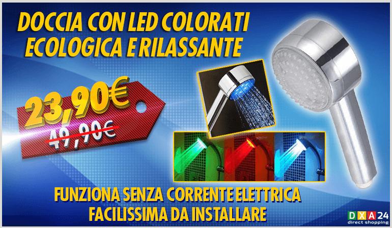 Doccia luci led termo sensibili dxa 24 - Doccia con led colorati ...