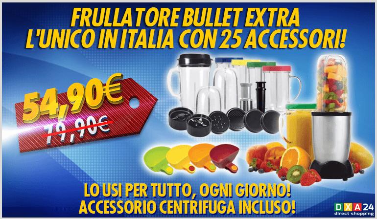 Frullatore bullet con 25 acessori magic frullati creme - Frullatore piccolo ...