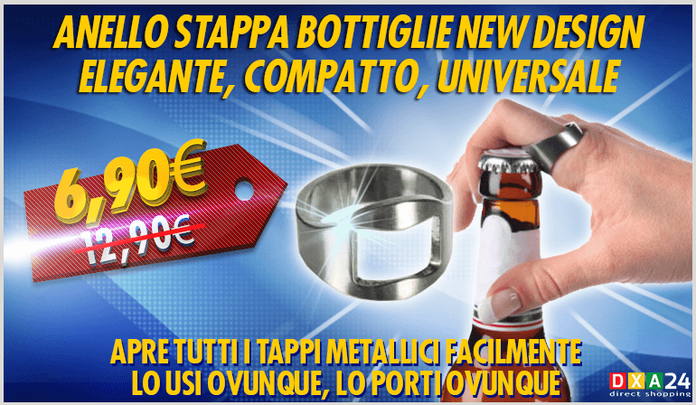 Anello Stappa Bottiglie New Design