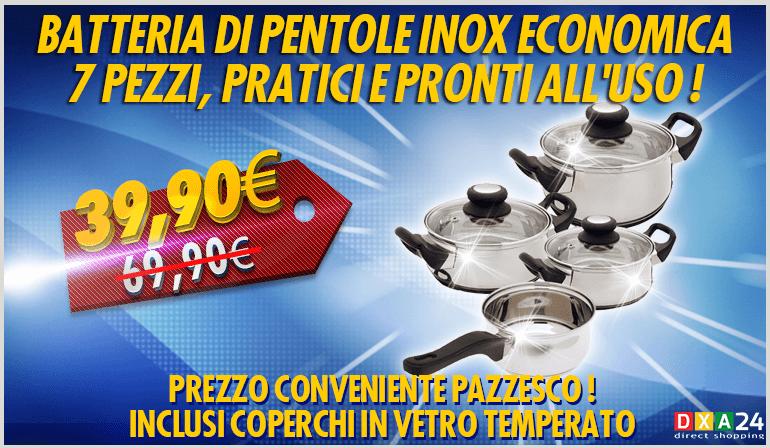 Batteria di Pentole Inox Economica