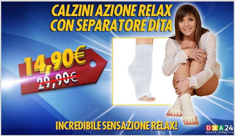 Calzini Con Funzione Relax Separatore Dita Soft