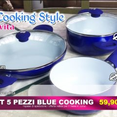 Blue Cooking Style Padelle Televendita