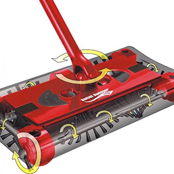 Scopa rotante rossa ruota a 360 dxa 24 for Ricambi scopa elettrica vileda