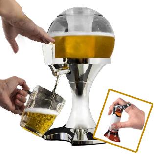 Spillatore birra mega fun anello apribottiglie dxa 24 - Spillatore birra da casa ...