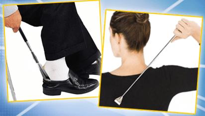 Bastone Gratta Schiena + Calza Scarpe